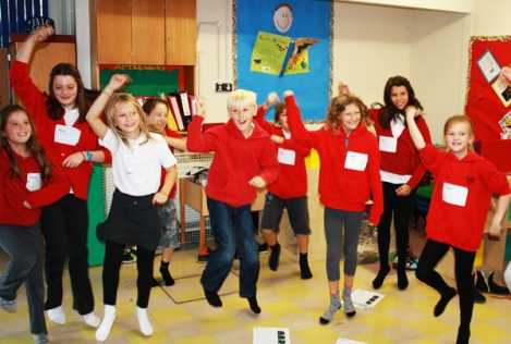 Knelston primary school, playground computing